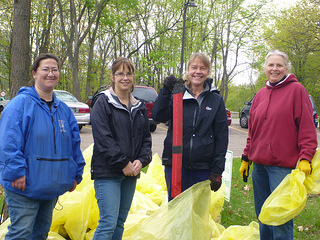 Volunteers at Earth Day cleanup