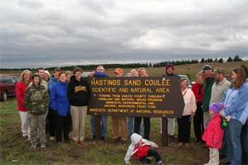 [Photo: Sand Coulee dedication, October 2007]
