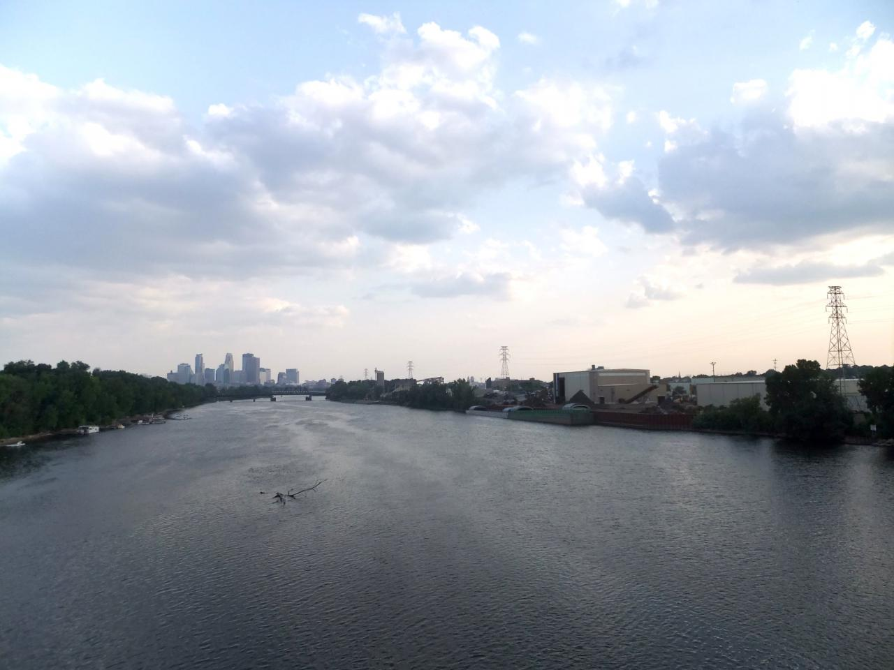 View of downtown Mpls from the Lowry bridge