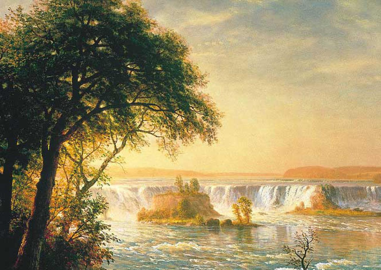 "Albert Bierstadt's ""The Falls of St. Anthony"" (detail)"
