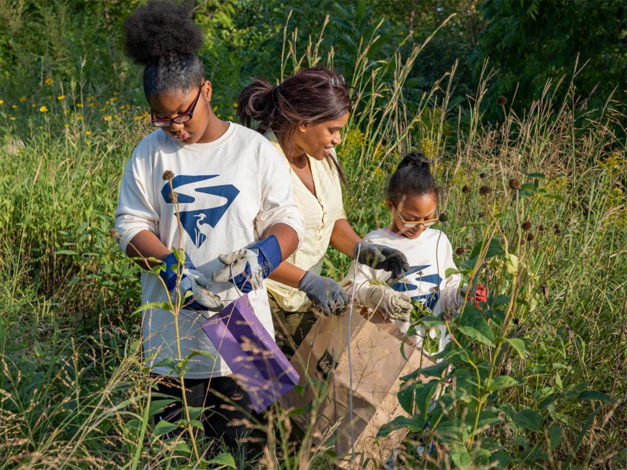 Volunteers help with prairie restoration