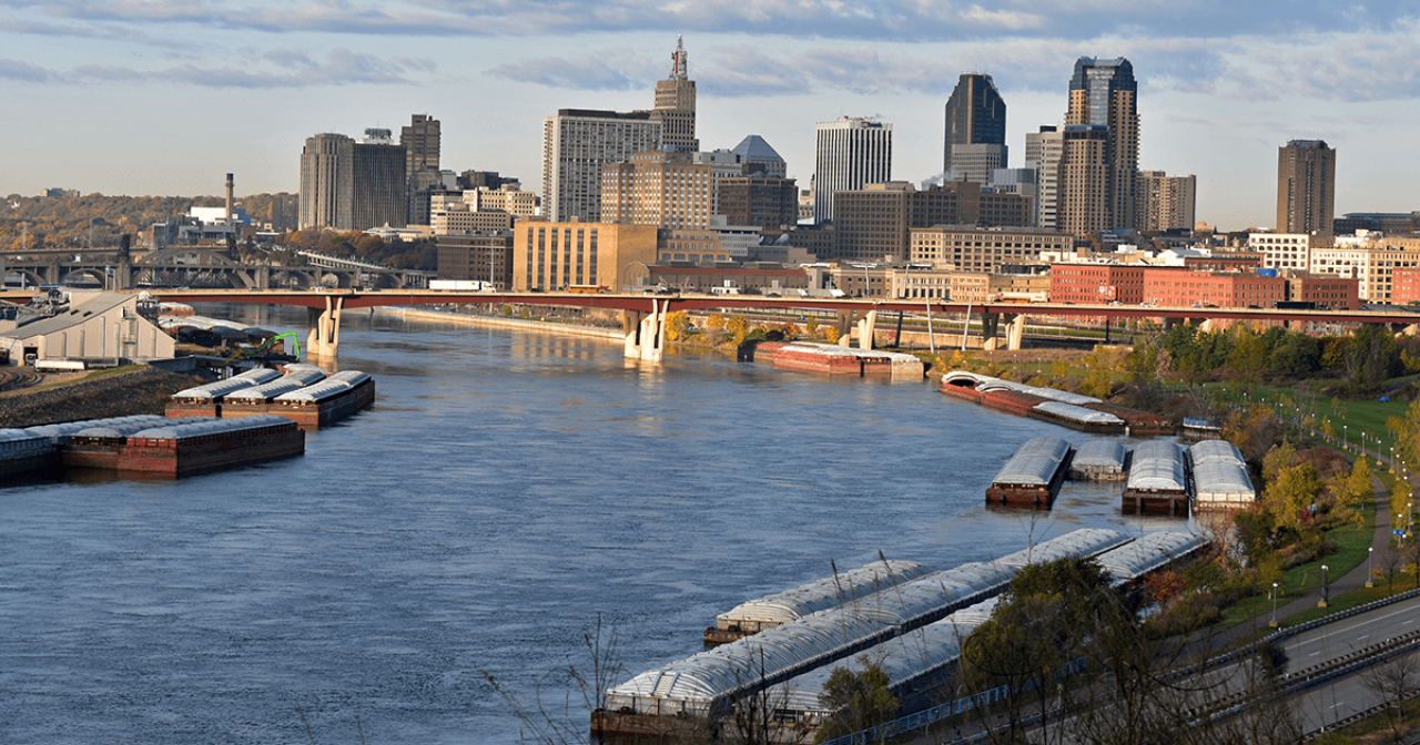Downtown St. Paul and Mississippi River