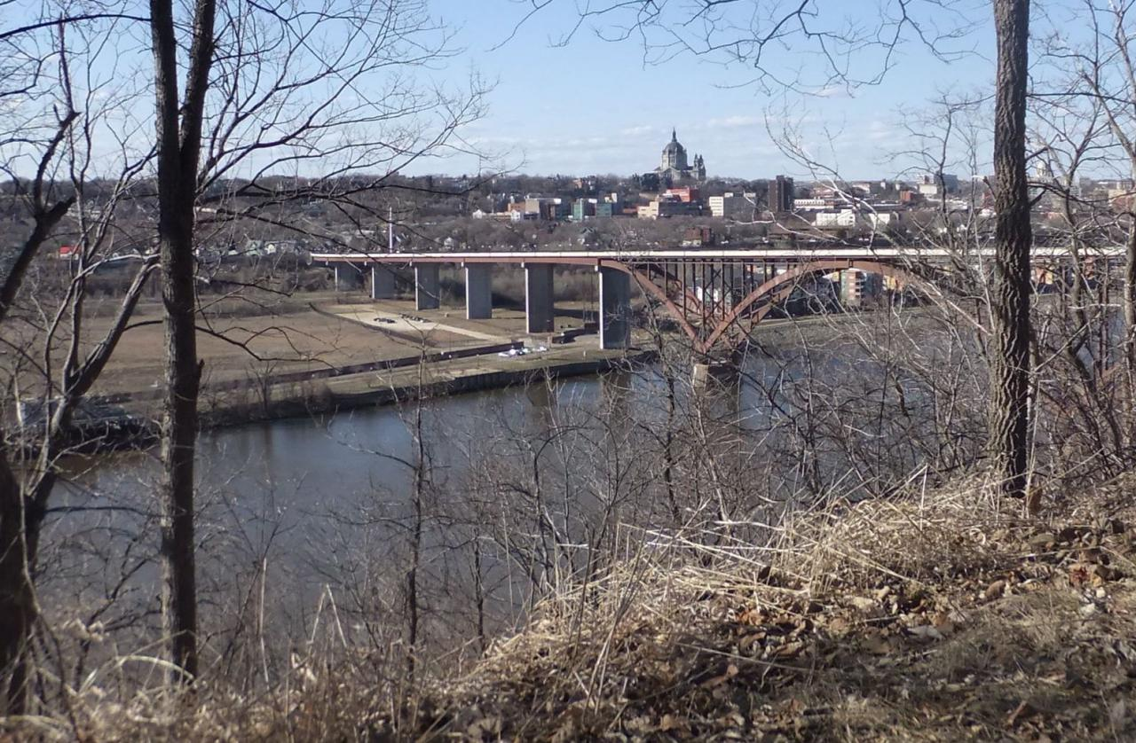 View of the High Bridge from Cherokee Park in St. Paul