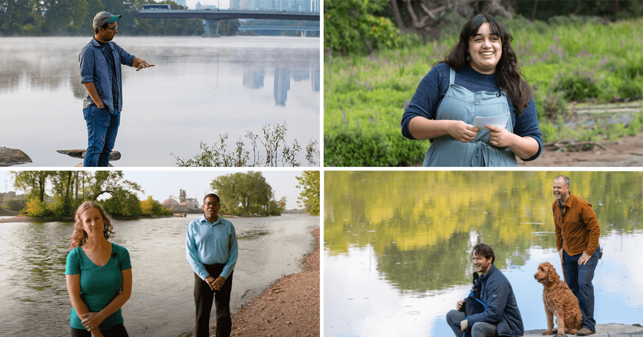 FMR staff at four locations on the river