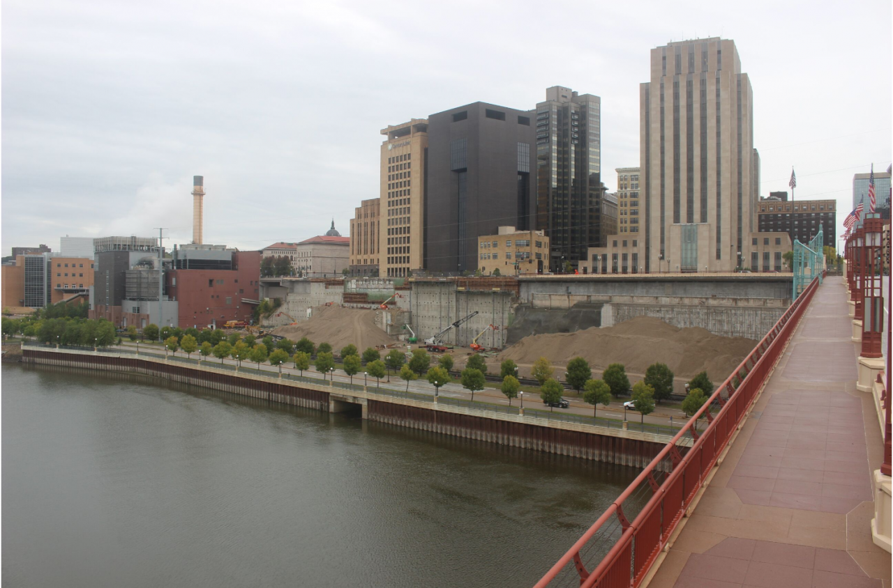 West Publishing and county jail site in downtown St. Paul