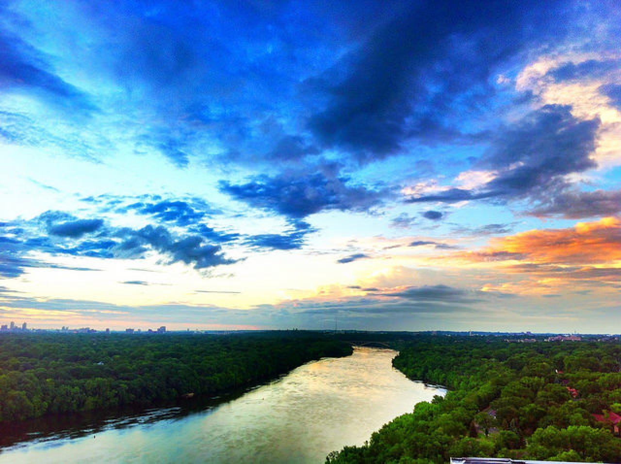 The Mississippi River Gorge from St. Paul by Jim Hudak