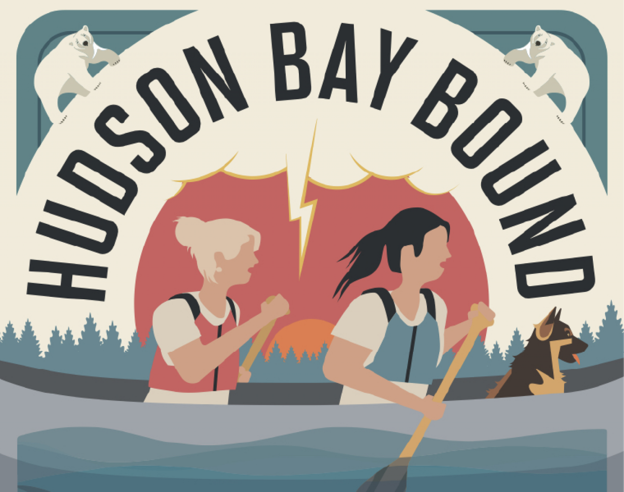 """""""Hudson Bay Bound: Two Women, One Dog, Two Thousand Miles to the Arctic"""" by Natalie Warren (book cover)"""