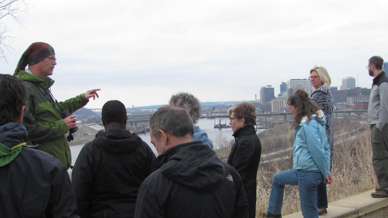 The view from Indian Mounds Park in St. Paul, one of many the new river rules help protect.