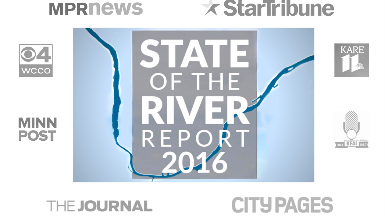 State of the River Report 2016 media attention