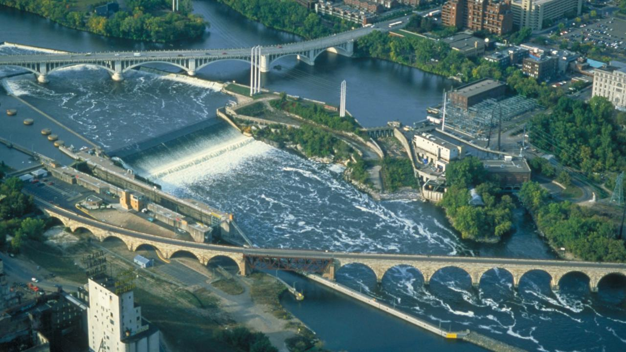 St. Anthony Falls from above