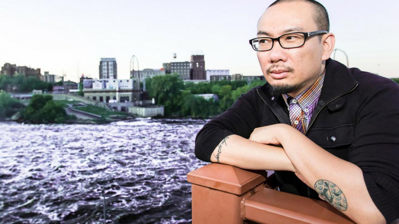 Minneapolis-based poet, Bao Phi.