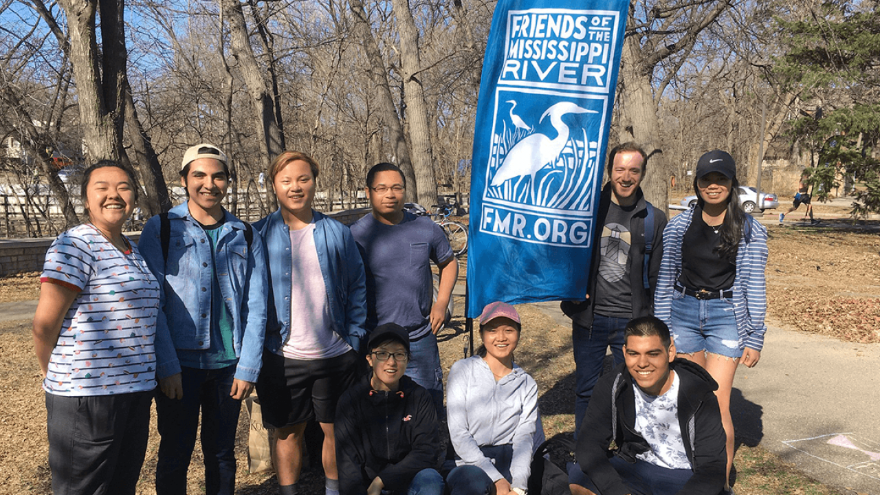 Volunteers at the 2019 Earth Day cleanup