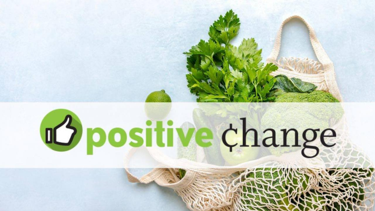 Mississippi Market Positive Change logo with an image of a bag of produce